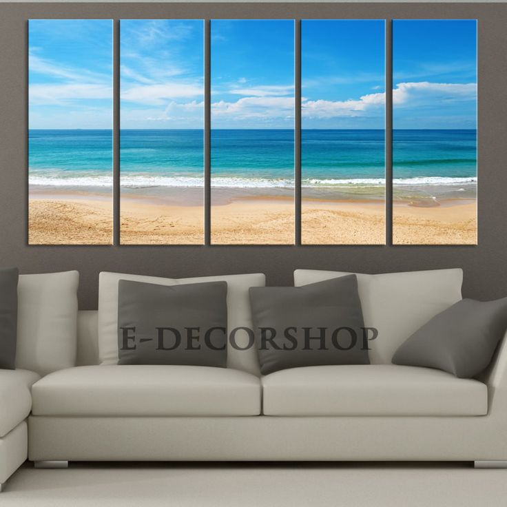 LARGE CANVAS ART - Sea and Beach Canvas Art Print for Home Decoration, Great Quality, Landscape Large Sea Beach Canvas Prints