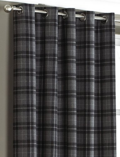 Grey tartan curtains.... Planned for the living room