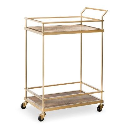 Threshold™ Bar Cart - Gold : Target - great for a bar, party cart, or record player & LP cart (like the site photo shows)