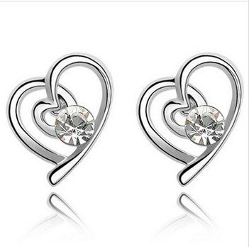 Aros de Corazón con Cristal Swarovski Elements