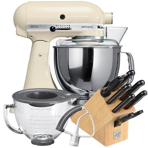 KitchenAid Artisan Almond Cream Food Mixer With FREE Gifts