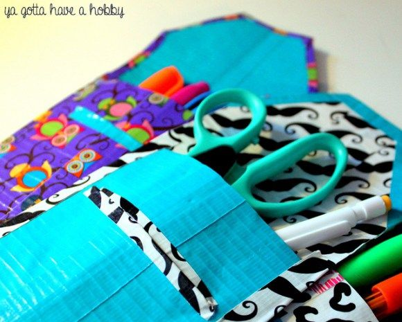 DIY Pencil Pouches with Duck Tape® from Ya Gotta Have a Hobby