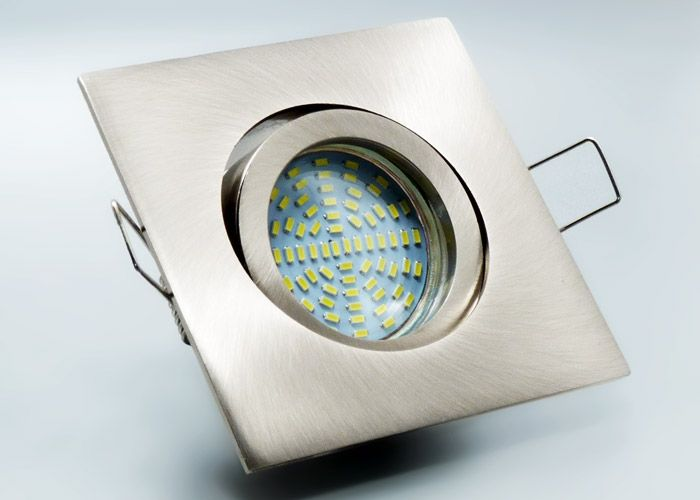 Trend LED Einbaustrahler Set mit Marken GU LED Spot LC Light Watt SMD Alu