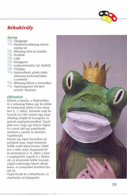 Anyóca Babóca: Hornyákné Sebestyén Éva- Hornyák Dóra: Farsangi papír álarcok (Színes Ötletek)