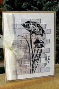 Brick Wall by Birgit Edblom  Create a unique look for your main image by cutting it apart and adhering it in brick form.