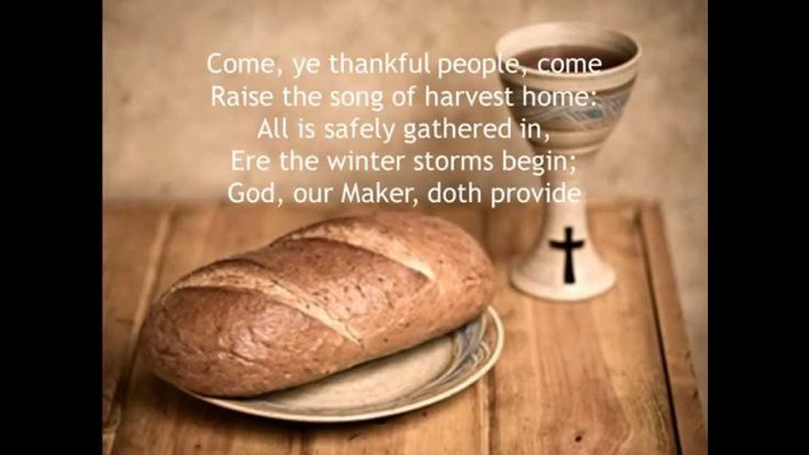 Come ye thankful people come diocese of st benedict
