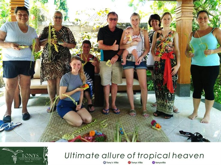 Get a memorable experience during stay with Tonys Villas and Resort by joining us in Balinese Activity every Wednesday and Saturday. Learn how to do Balinese dress up and making offering, fill your holiday by fun. . . . #bali #seminyak #tonysvilla #holiday #vacation #family #fun #balineseactivity #Balinese #travelblogger #triptobali #honeymoon #freeactivity #offering #ornaments  www.balitonys.com