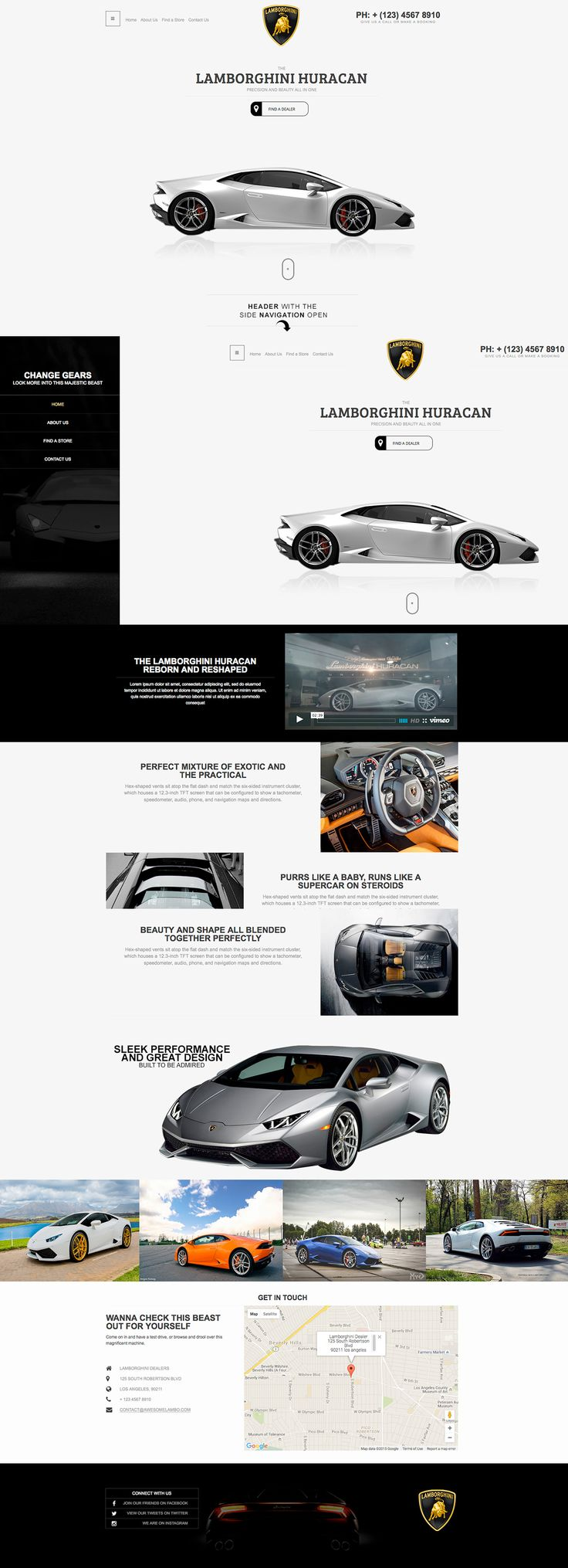 Lamborghini Homepage Mock-up on Behance