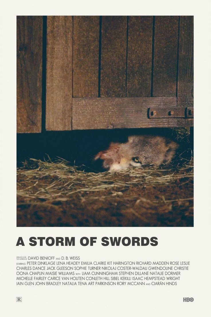 Game of thrones A Storm of Swords alternative TV poster
