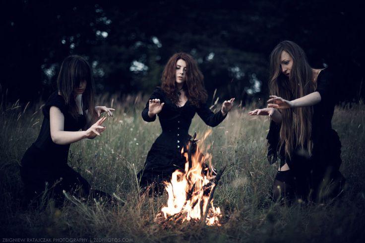 Witch house: three witches XXIV. by Agnes-z-Garbledville.deviantart.com on @DeviantArt
