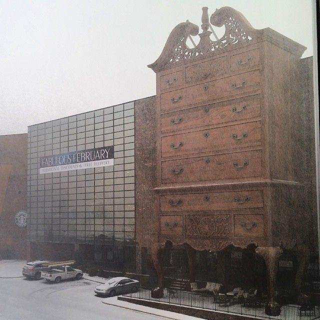 A Snowy Day At Furnitureland South   February 2014   Photo By Hazel Kuehn