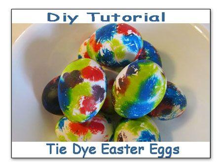 DIY Tie Dye Easter Egg Tutorial