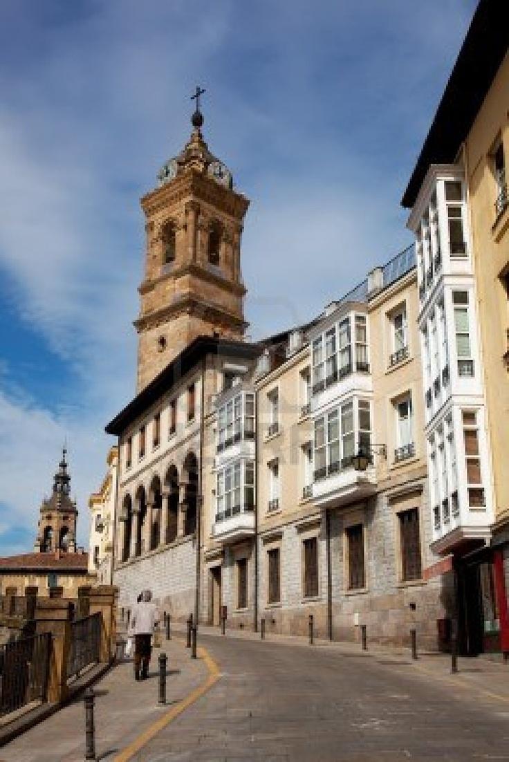 Centro de la ciudad de Vitoria, Alava, País Vasco, España