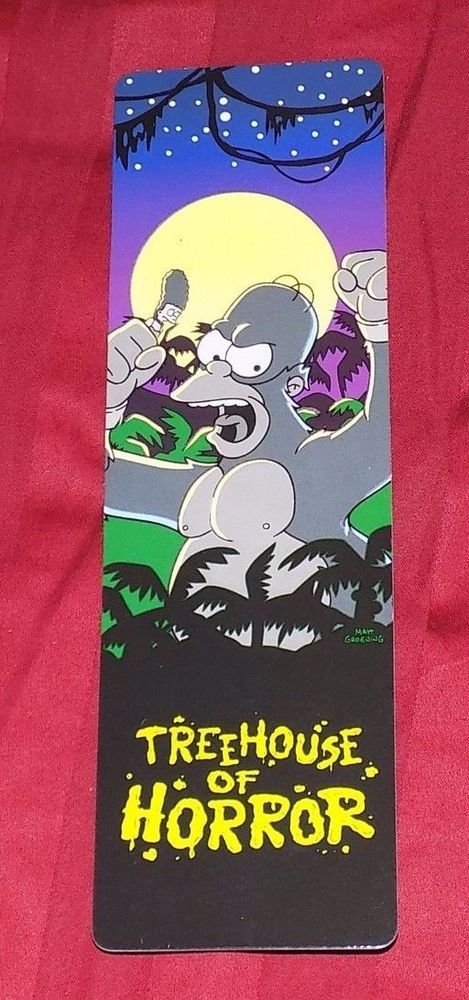 Simpsons Treehouse of Horror GLOW IN THE DARK BOOKMARK SUPER RARE ONLY 1 ONLINE #USAOPOLY