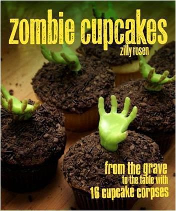 Zombie Cupcakes! I think @Brooke-Frankie Toner would looooove these with your nephiews for zombie night!