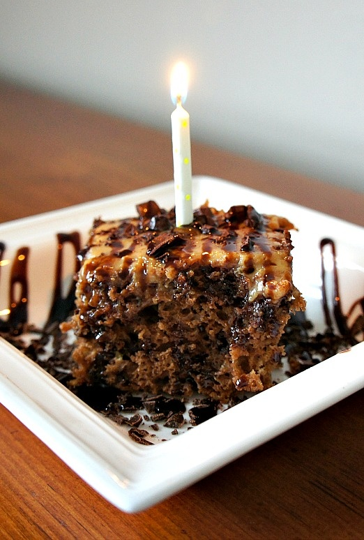 Slow Cooker Moist Chocolate and Caramel Cake