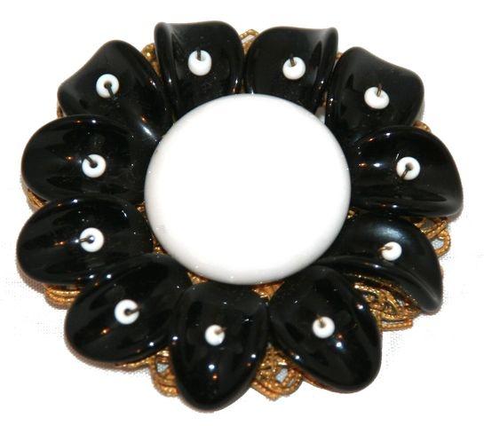 Polka Dot Printed Satin (1 mm) 10 - black | Polka dot