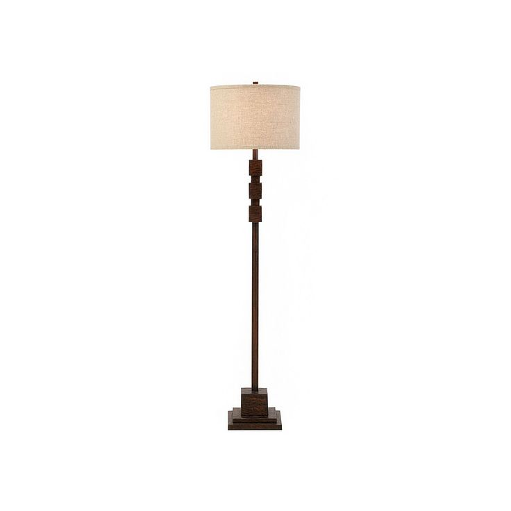 Catalina Lighting Traditional Rustic Floor Lamp, Brown
