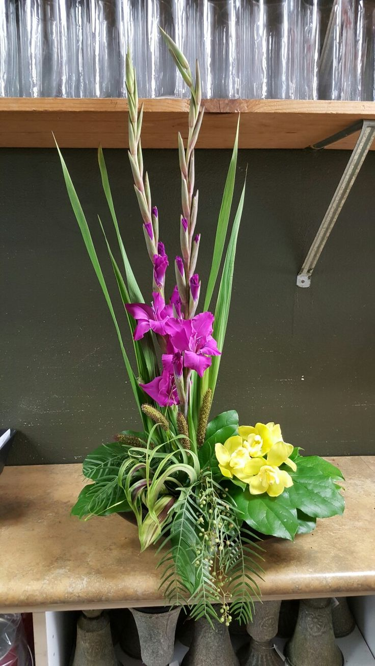 787 best my flower arrangements images on pinterest floral purple and yellow flower arrangements for wedding and events mightylinksfo