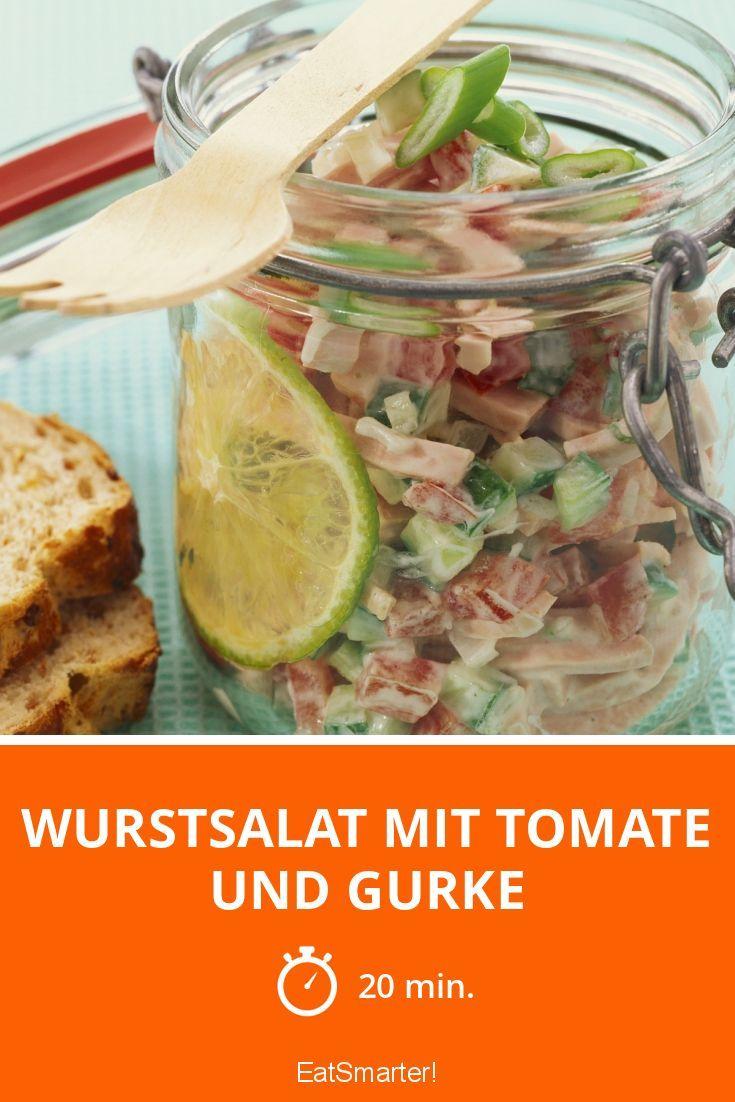 Wurstsalat mit Tomate und Gurke - smarter - Zeit: 20 Min. | eatsmarter.de