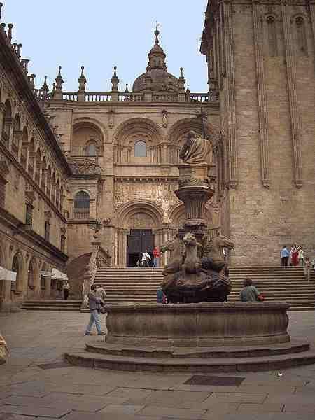Pintura de Santiago de Compostela, España