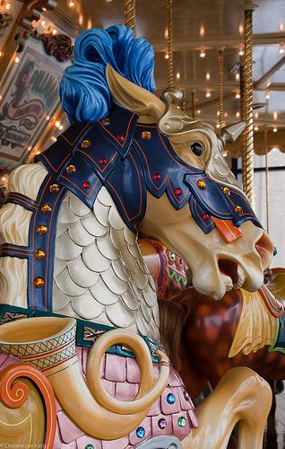 Armored painted carousel