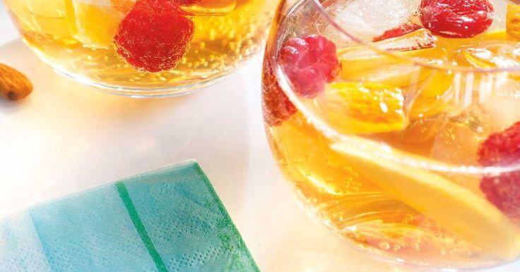 Sangria blanche au miel et à la mangue