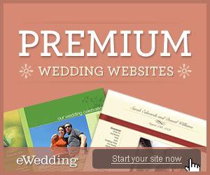 Wedding websites from eWedding.com