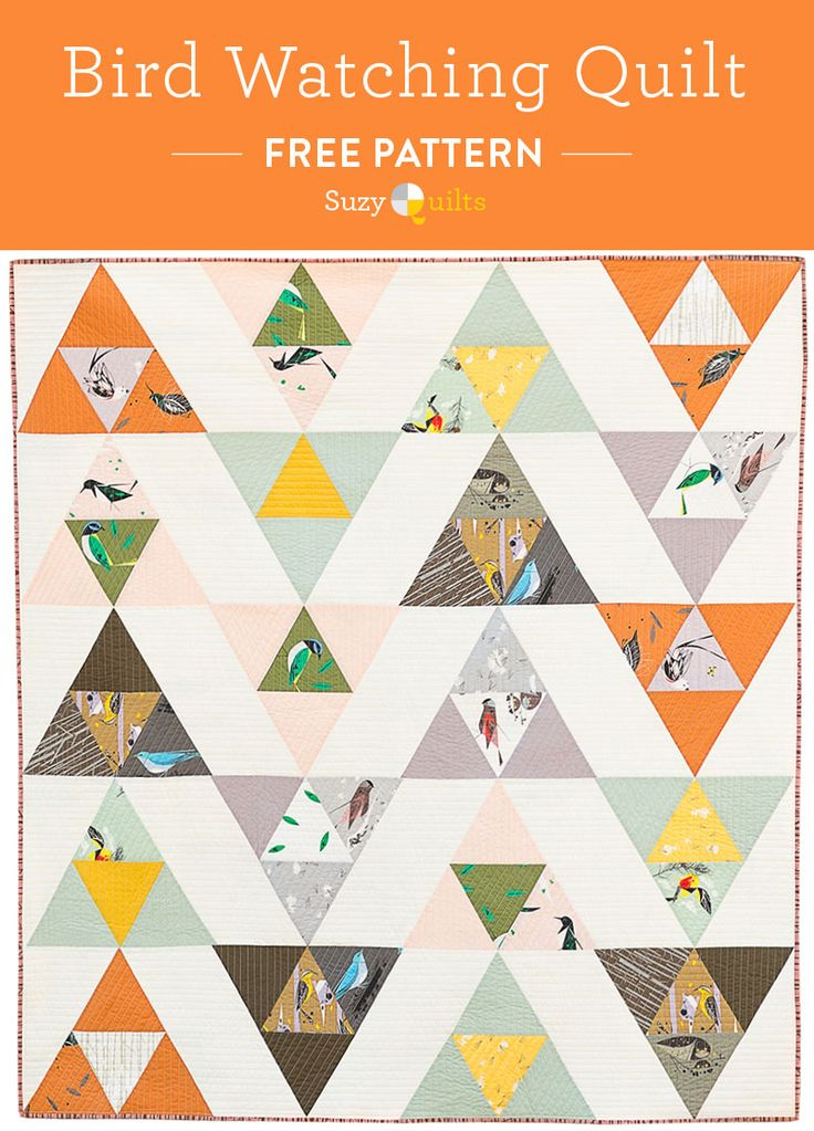 Free Charley Harper quilt pattern. This post includes 10 free DIY sewing gifts to make for your best gal pal! All sewing skill levels are included so everyone will find something they can make.