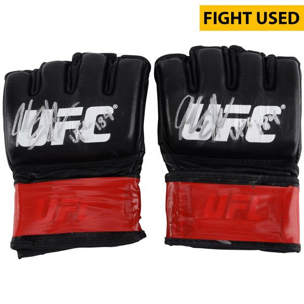 Jake Ellenberger Ultimate Fighting Championship Fanatics Authentic Autographed UFC 184 Fight-Worn Pair of Gloves with UFC 184 Inscription - Defeated Josh Koscheck via 2nd Round Submission - $749.99