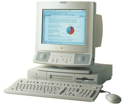 My first Apple. The beautiful Power Macintosh 6100 with exquisite multimedia monitor. Thanks Mom.