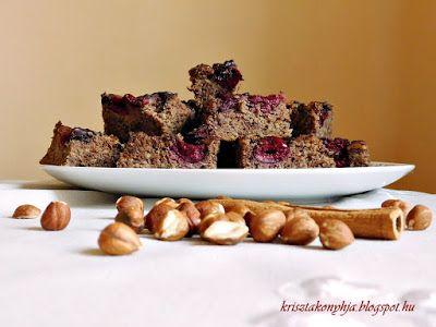 Kriszta konyhája- Sütni,főzni bárki tud!: Törökmogyorós- csokis-meggyes pite ( paleo )