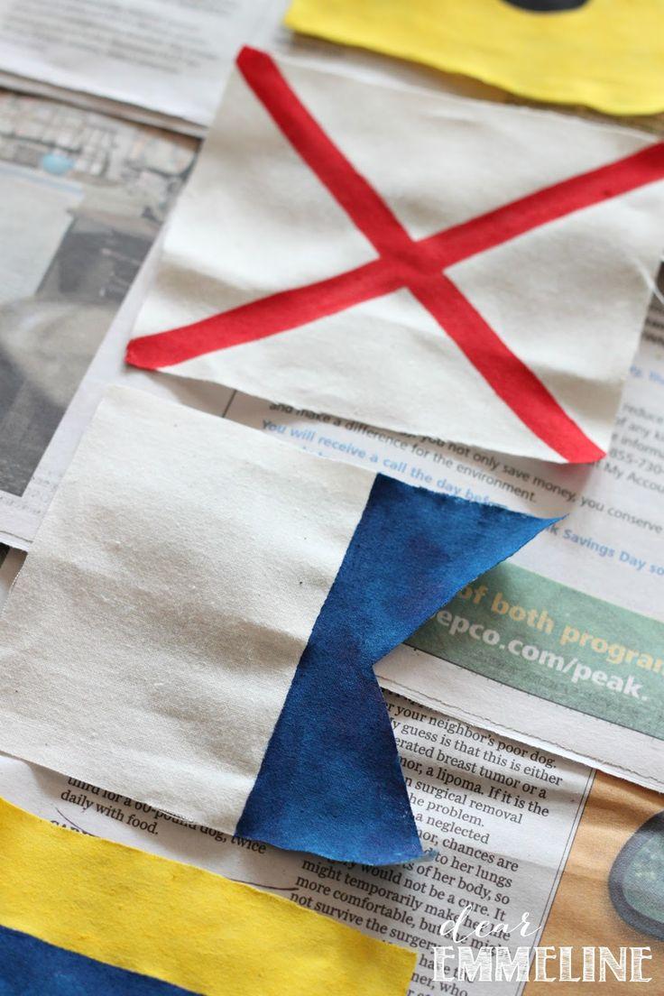 DIY Maritime Flag Bunting