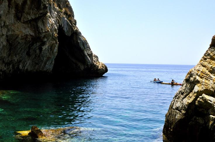 Hidden #Madonna Cove in #Lesvos, #Greece