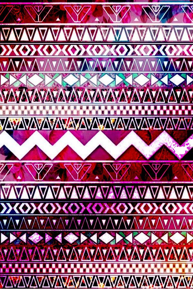 Pink-purple aztec print | wallpaper | Pinterest | Aztec ...