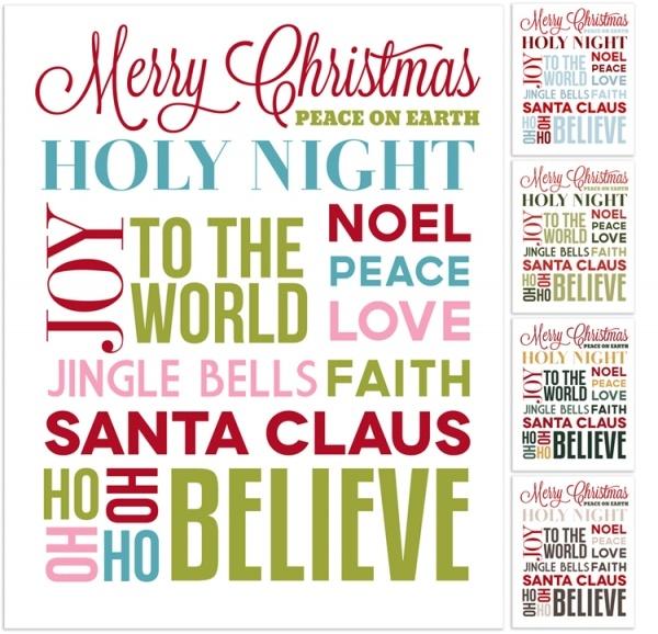 Christmas Subway Art Free Printable - Photo Card Boutique