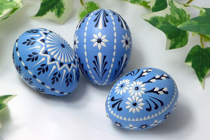 blaue Ostereier, Sorbische Ostereier, Ostereier in Pastell, wendish eggs, easter eggs, art, craft