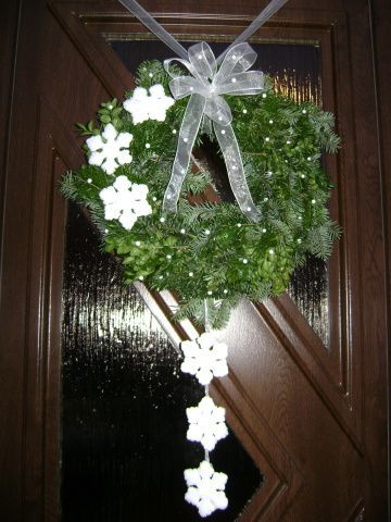 Náš věnec na dveře......