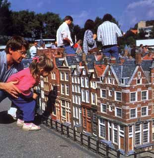 Miniature City of Amsterdam 1:25 scale in Madurodam, Holland