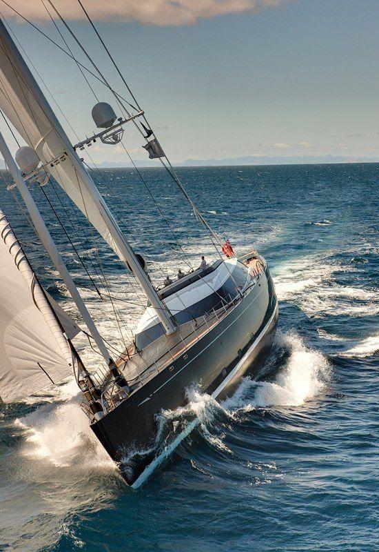 Kokomo - 192ft sloop by Alloy Yachts. #boatsdotcom