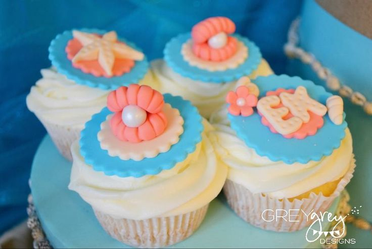 sea themed cupcakes