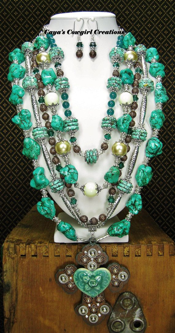 WESTERN STATEMENT Necklace / Multi Strand от CayaCowgirlCreations