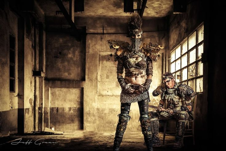 Salvage/Post Apocalyptic photo shoot Photographer:Jeff Green Models: Vanessa Passmore & Francko Edge Costume Designer:Vanessa Passmore  Hair:Amanda Kat MUA:Derek Hille
