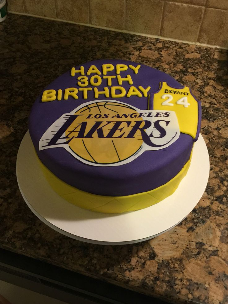 20 best Lakers cakes images on Pinterest Cake ideas