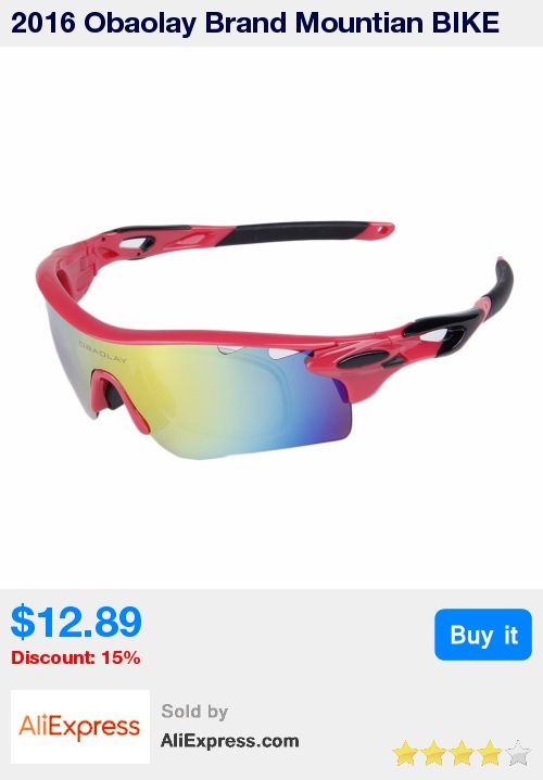 2016 Obaolay Brand Mountian BIKE Sunglasses Polarized Sport Cycling Racing Bicycle Running Men Sun Glasses For Man * Pub Date: 10:26 Apr 30 2017