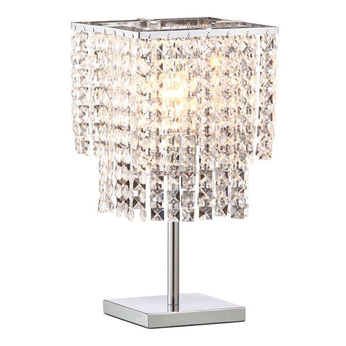 Chrome and crystal table lamp 190