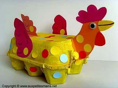 Boîte à oeufs coq