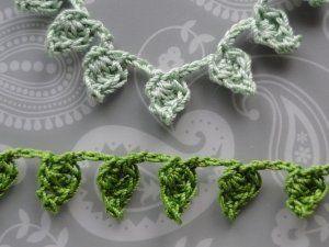 Two green leafy braids...free pattern! ༺✿ƬⱤღ✿༻