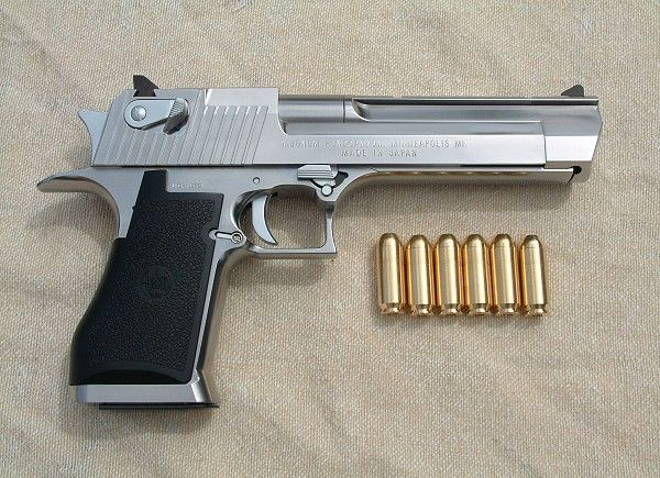 Desert-Eagle-50AE for those that want just a little bit more. Not designed for the wuss in life.