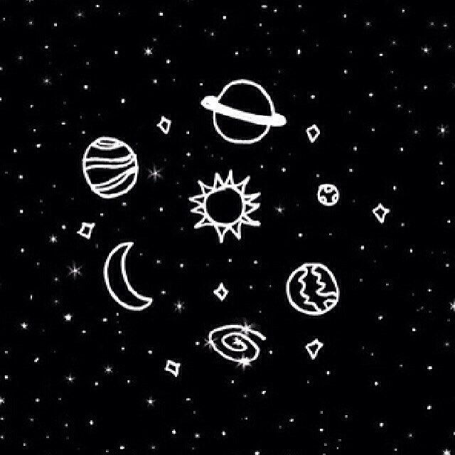 drawing galaxy planet drawings doodles space doodle star planets clipart sun universe aesthetic outer desktop notebook moon draw wallpapers astronomy